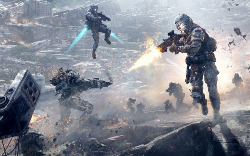 TITANFALL sci-fi game mecha battle warrior armor r wallpaper