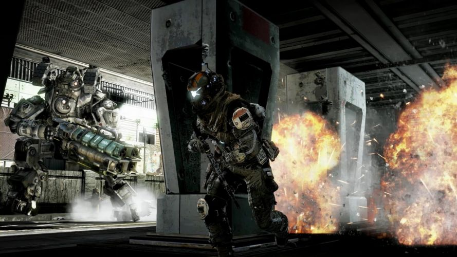 TITANFALL sci-fi game mecha battle warrior armor t wallpaper