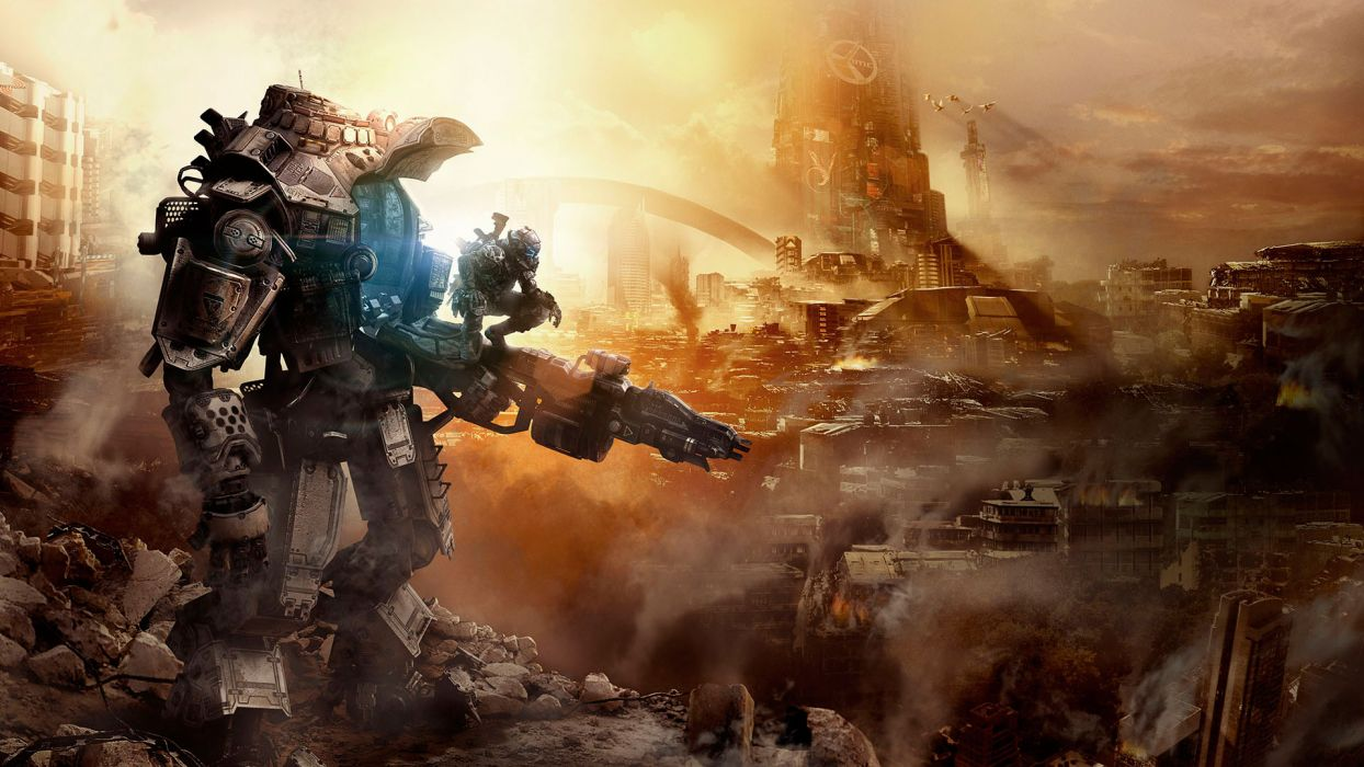 TITANFALL sci-fi game mecha city      j wallpaper