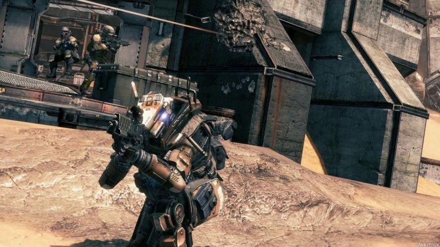 TITANFALL sci-fi game warrior armor weapon gun j wallpaper