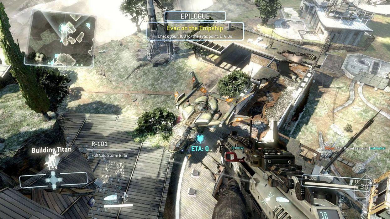 TITANFALL sci-fi game weapon gun pov        yy wallpaper