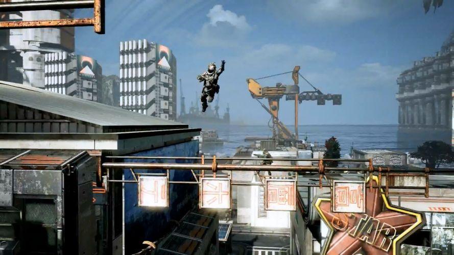 TITANFALL sci-fi game warrior city g wallpaper
