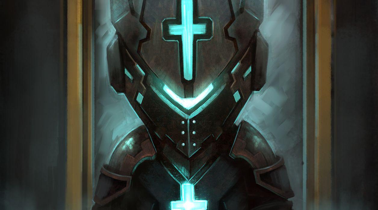 Dead Space Warriors Helmet Armor Games wallpaper