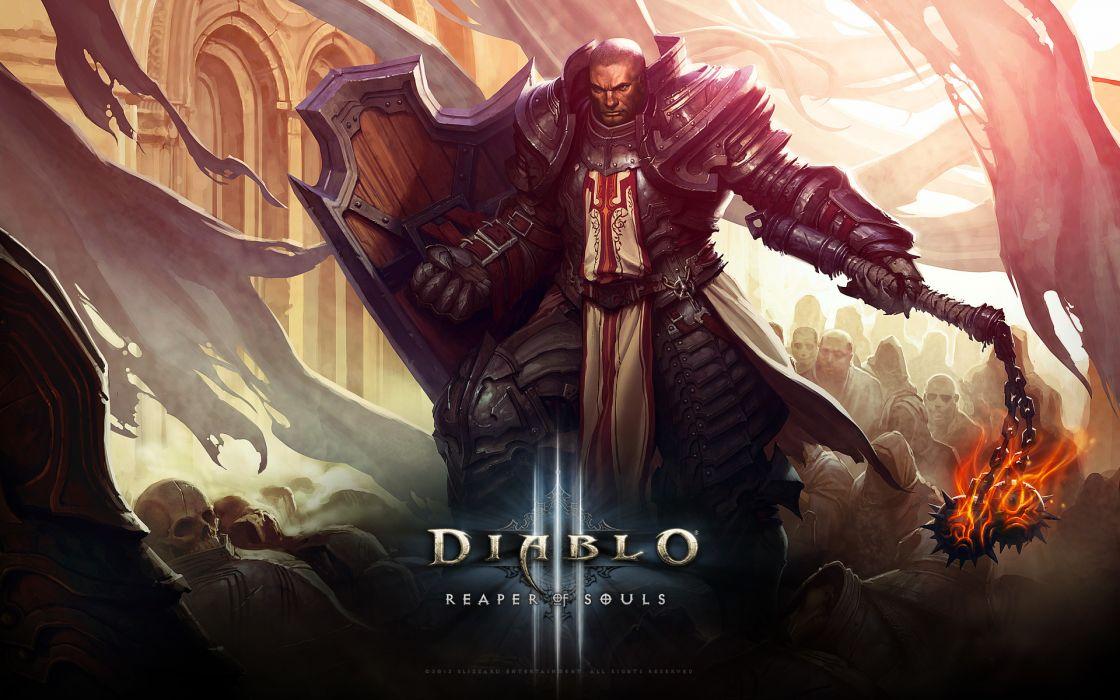 Diablo III ( diablo 3 ) Warriors Men Armor Games Fantasy wallpaper