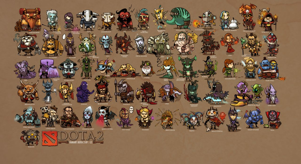 DOTA 2 list of heroes Games Fantasy wallpaper