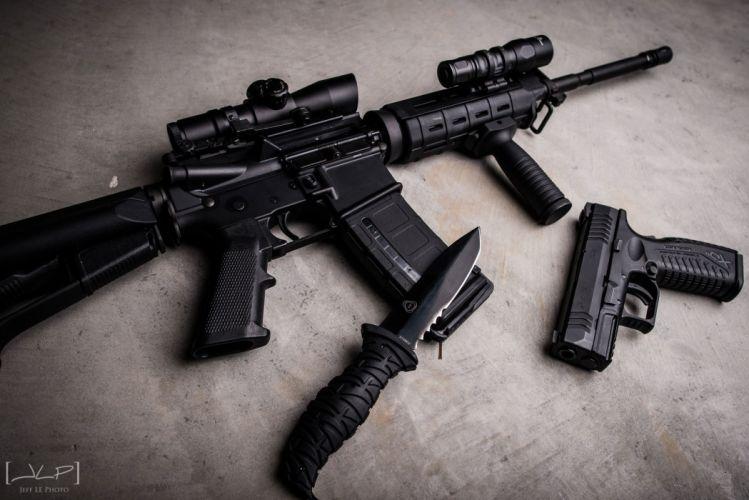 guns assault rifles ar-15 nilitary police f wallpaper
