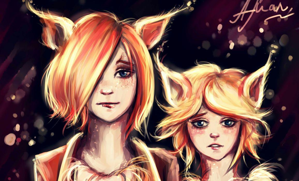 Painting Art Face Girls Fantasy wallpaper