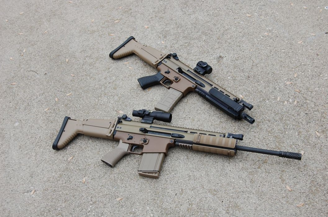 SBR SCAR weapon gun police military wallpaper
