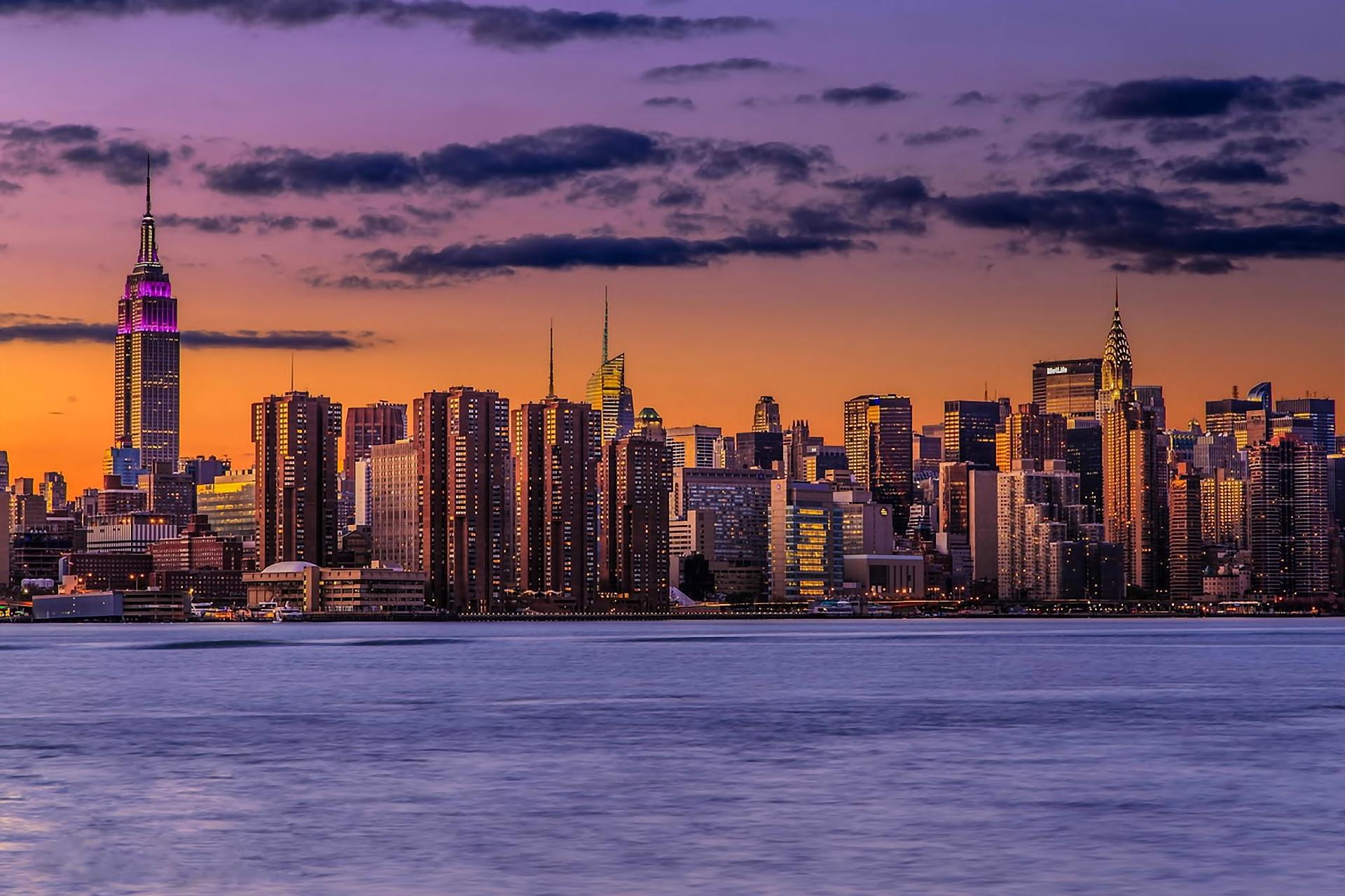 Sunset Lights New York City Manhattan Wallpaper 1920x1280 169628 Wallpaperup