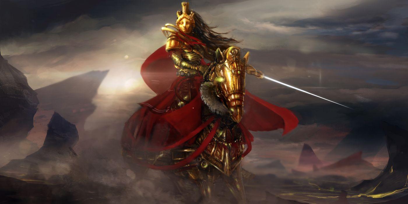 Warriors Horses Armor Fantasy wallpaper