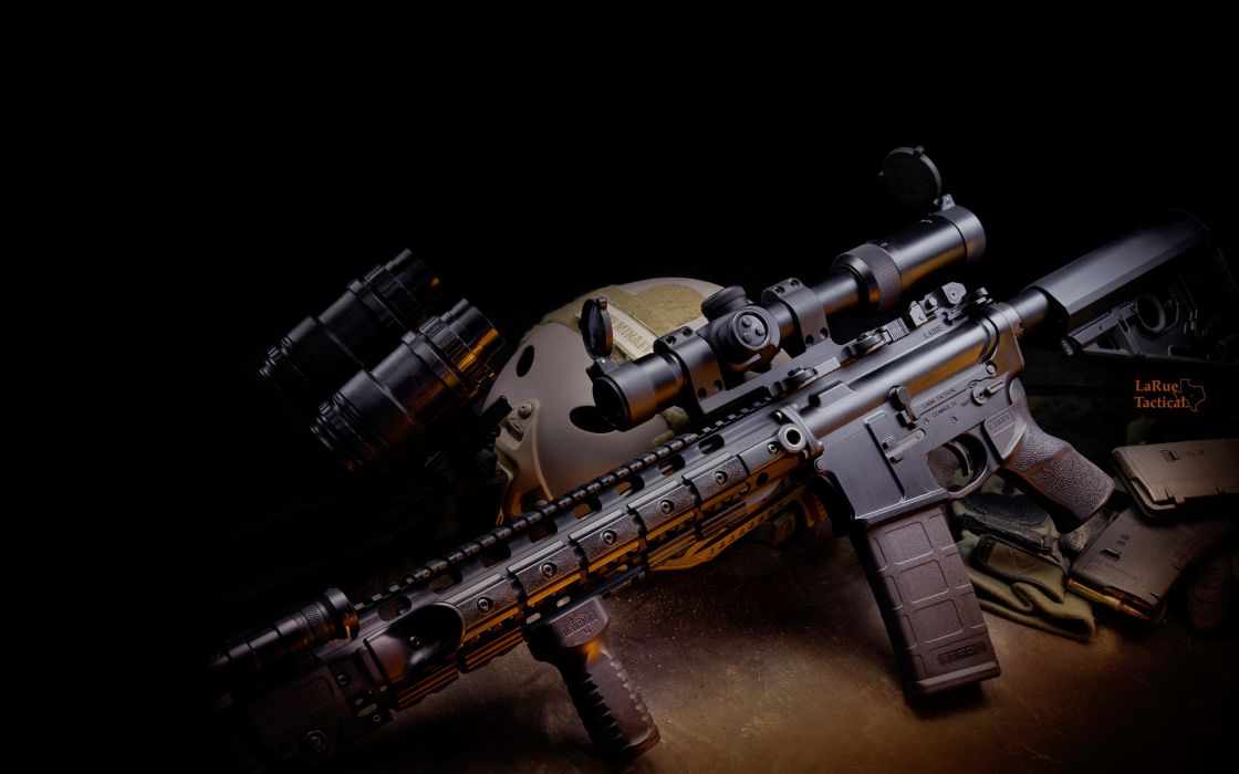 weapon m4 rifle gun automatic military police      f wallpaper
