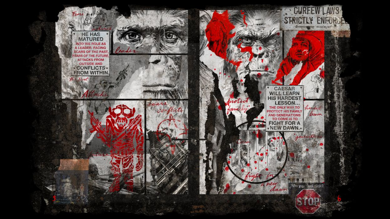 Dawn of the Planet of the Apes movie sci-fi comics monkey       f wallpaper