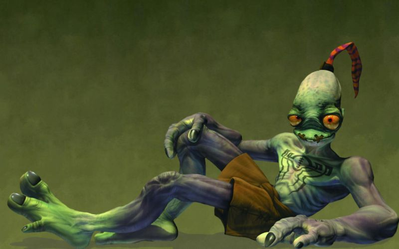 ODDWORLD sci-fi game alien g wallpaper