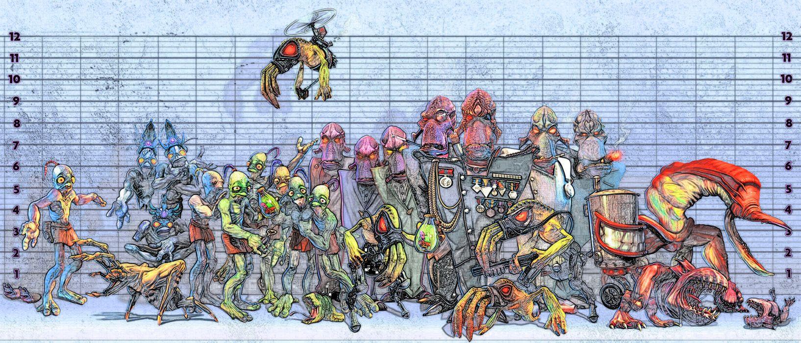 ODDWORLD sci-fi game alien   e wallpaper