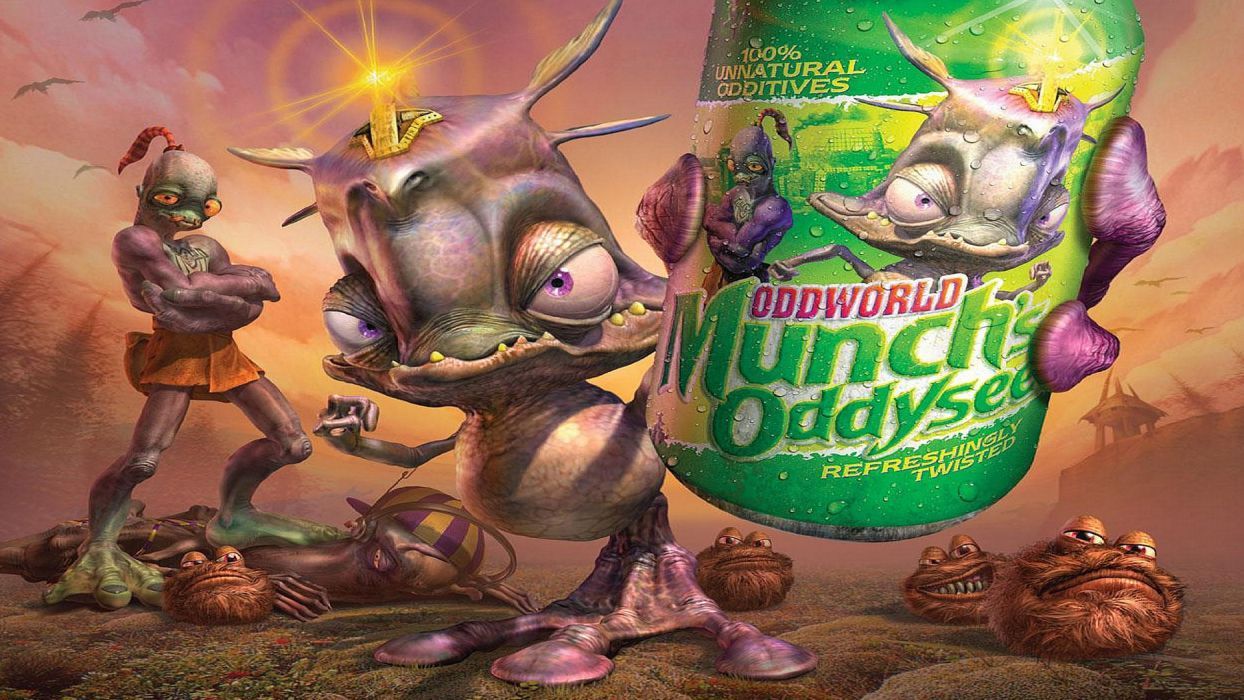 ODDWORLD sci-fi game alien  v wallpaper