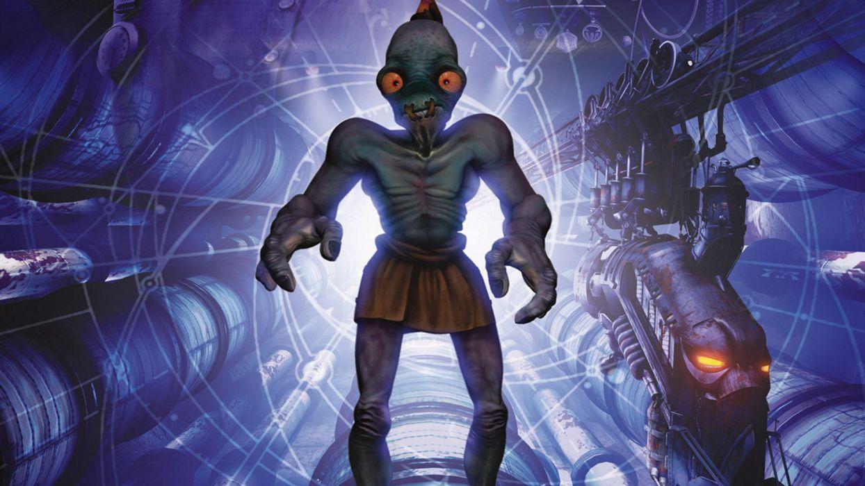 ODDWORLD sci-fi game alien f wallpaper