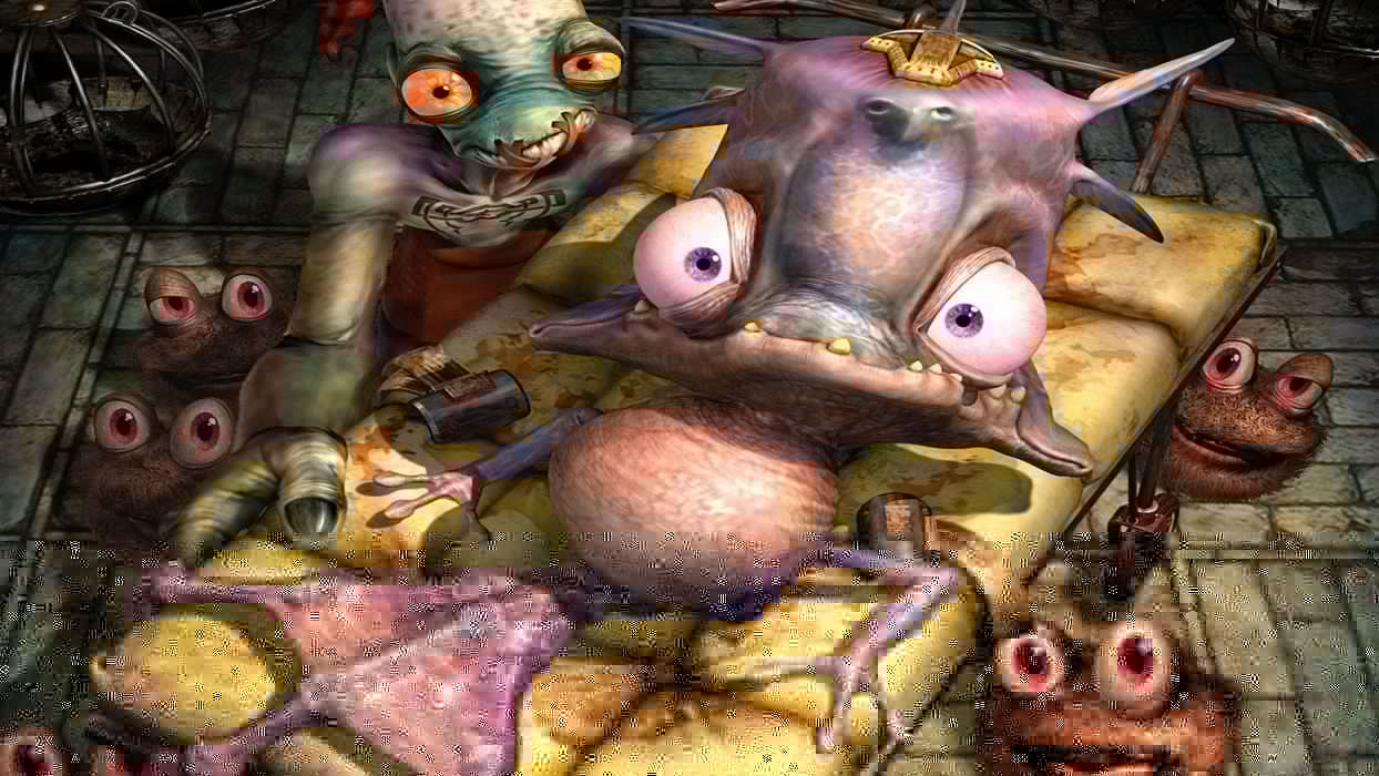 ODDWORLD sci-fi game alien m wallpaper