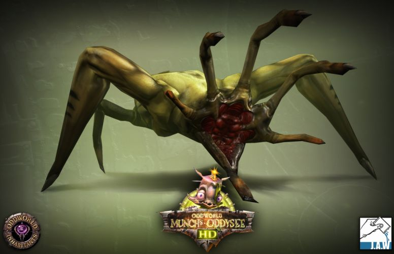 ODDWORLD sci-fi game fantasy monster f wallpaper