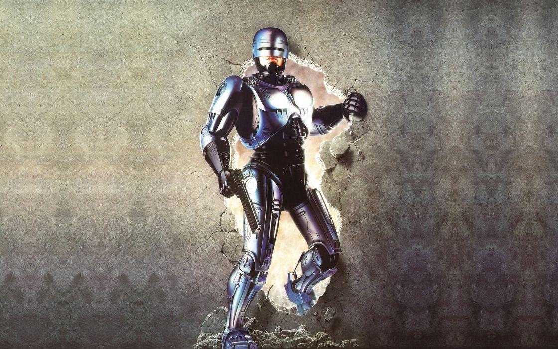 ROBOCOP sci-fi cyborg warrior armor     e wallpaper