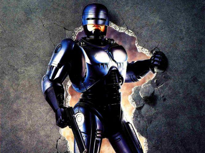 ROBOCOP sci-fi cyborg warrior armor d wallpaper
