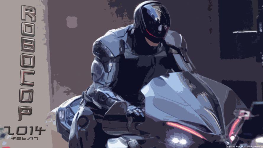 ROBOCOP sci-fi cyborg warrior armor f wallpaper