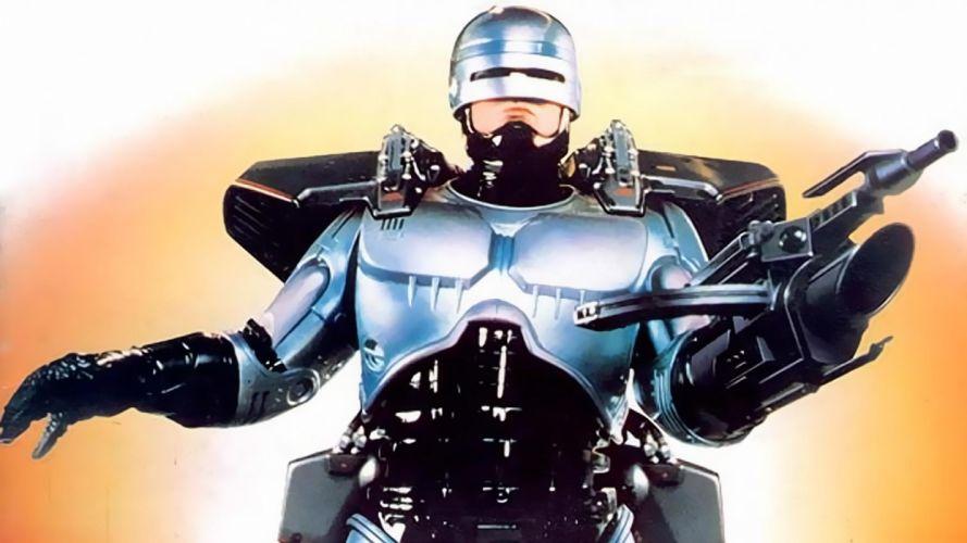 ROBOCOP sci-fi cyborg warrior armor weapon gun r wallpaper