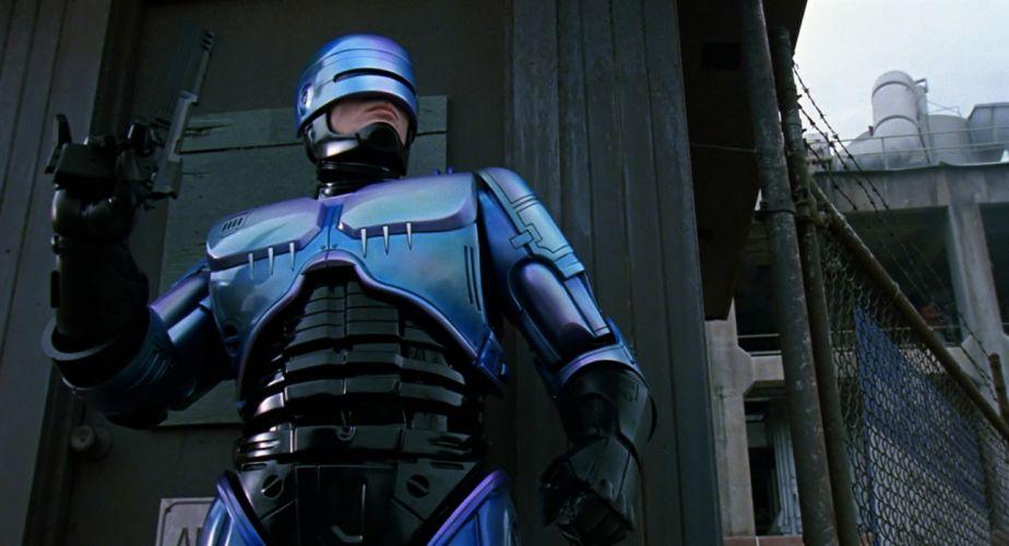 ROBOCOP sci-fi movie cyborg warrior armor weapon gun t wallpaper