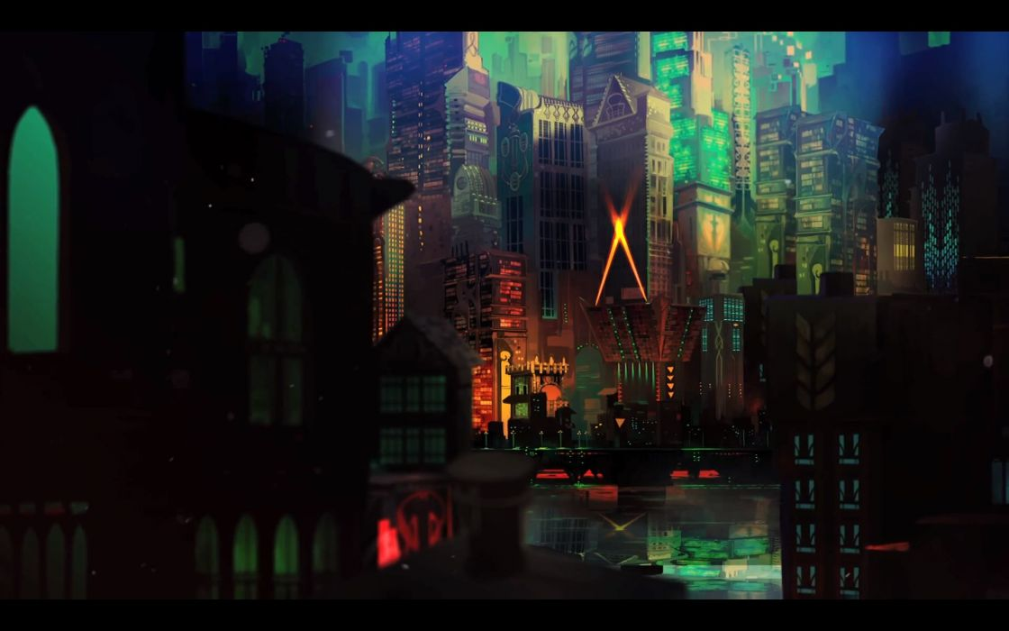 TRANSISTOR game anime city     d wallpaper