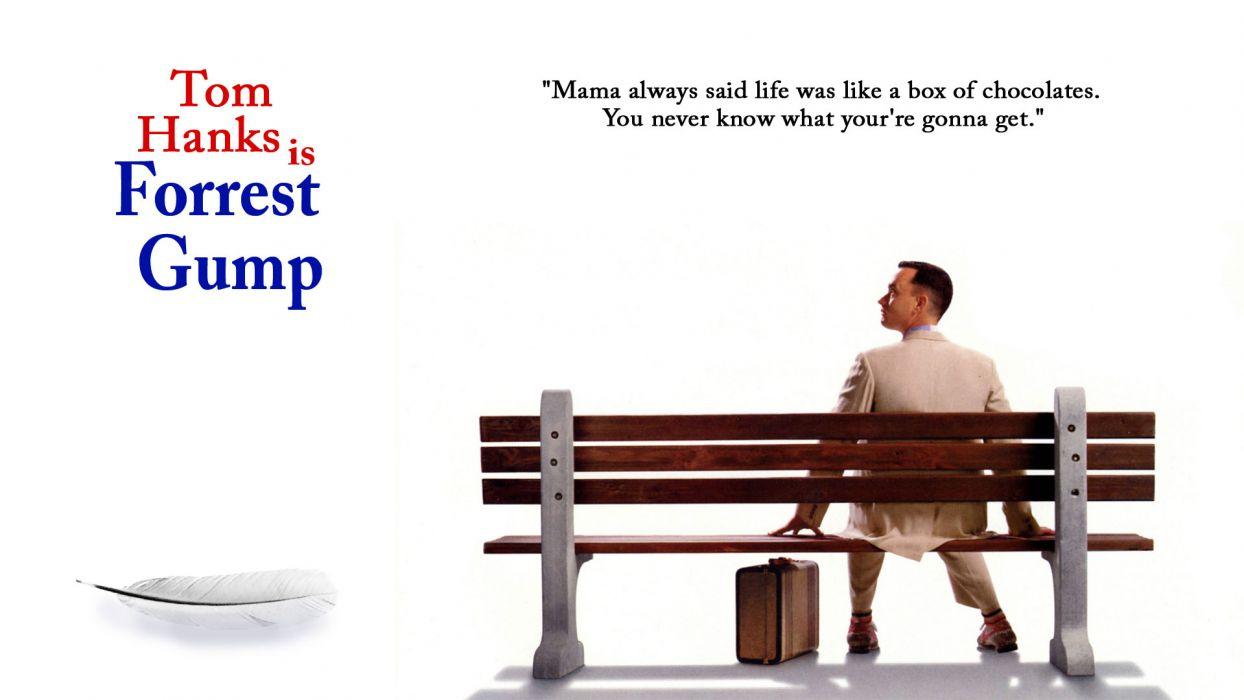 FORREST GUMP comedy drama tom hanks actor poster     r wallpaper