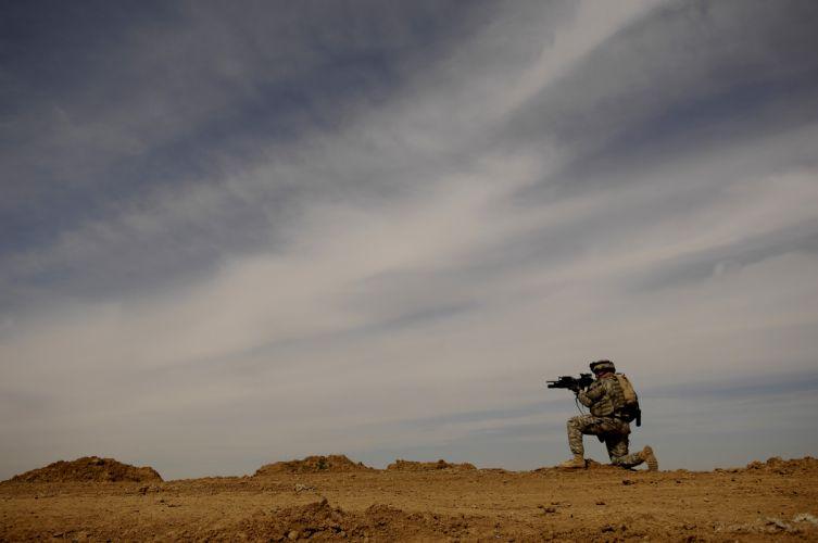 military soldier weapon gun f wallpaper