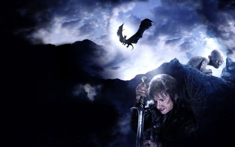 The Hobbit There and Back Again lord rings fantasy movie dragon gollum g wallpaper