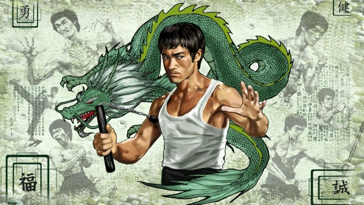 ENTER THE DRAGON bruce lee martial arts movie warrior    rq wallpaper