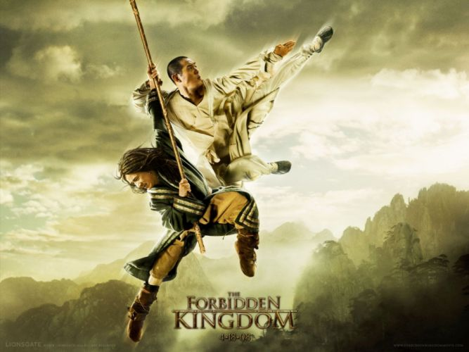 THE FORBIDDEN KINGDOM martial arts jackie chan jet li jet-li f wallpaper