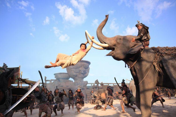 ONG-BAK martial arts ong bak elephant battle g wallpaper