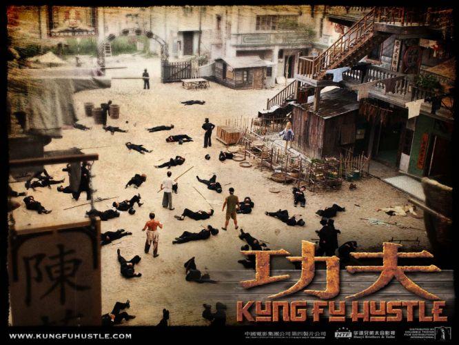 KUNG FU HUSTLE martial arts action comedy f wallpaper