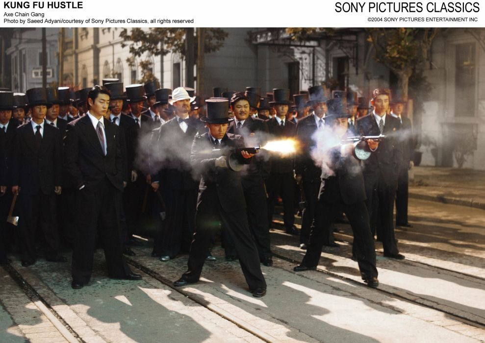 KUNG FU HUSTLE martial arts action comedy battle weapon gun      g wallpaper