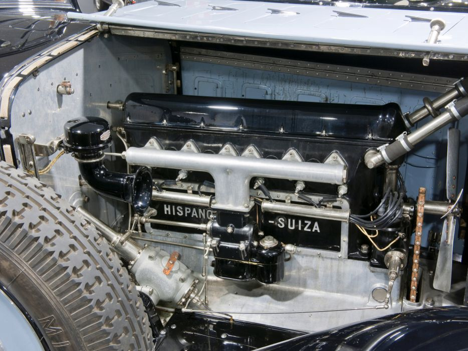 1922 Hispano Suiza H6 Coupe Chauffeur Landaulet by Chapron luxury retro h-6 engine   g wallpaper