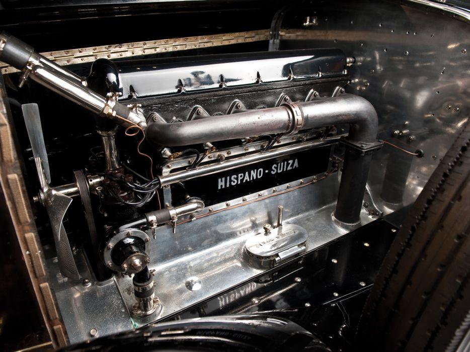 1924 Hispano Suiza H6B Coupe de Ville by Saoutchik retro luxury engine  j wallpaper