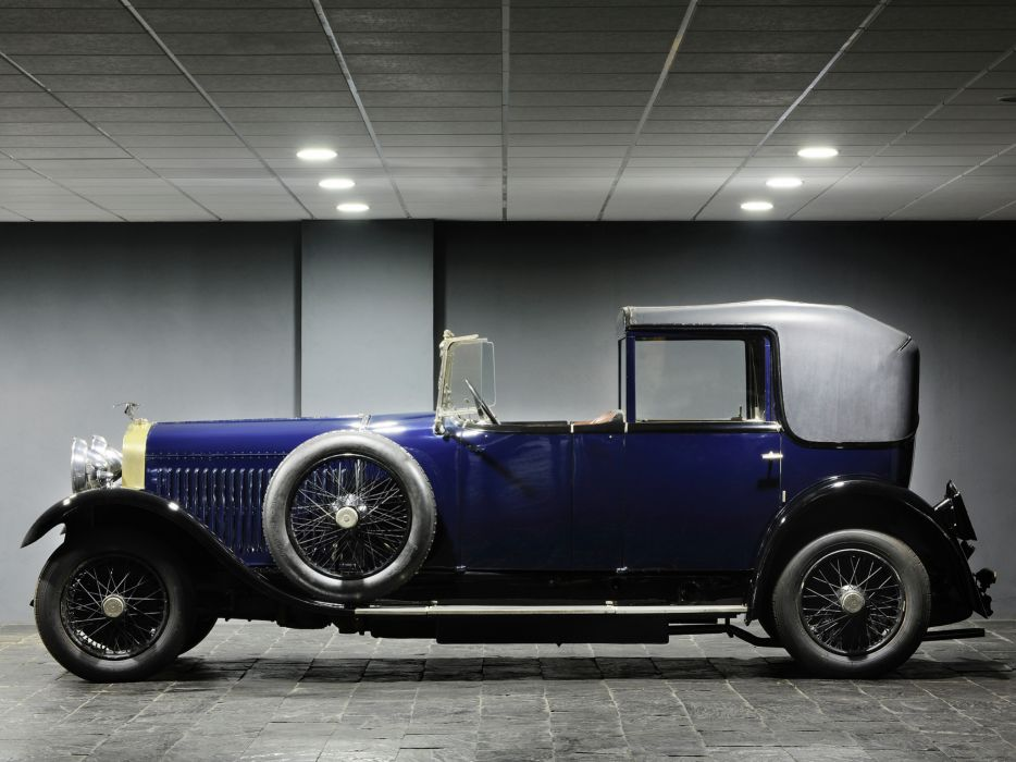1925 Hispano Suiza H6B Coupe Chauffeur by Kellner luxury retro  g wallpaper
