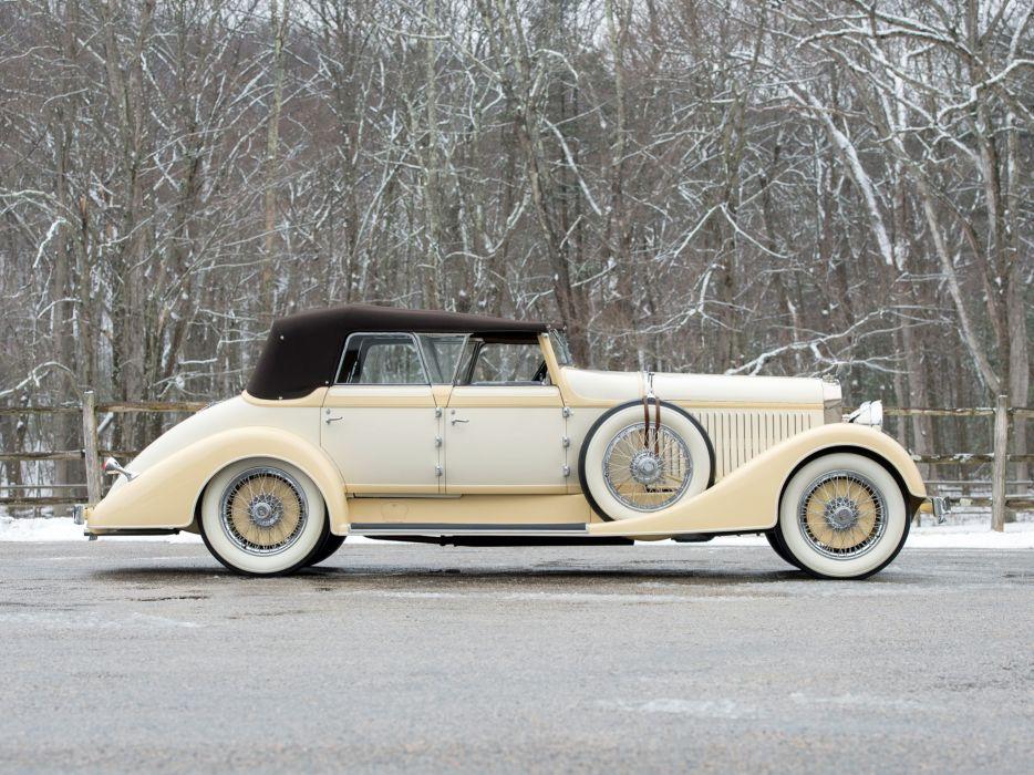 1928 Hispano Suiza H6C Convertible Sedan by Hibbard Darrin retro luxury wheel     f wallpaper