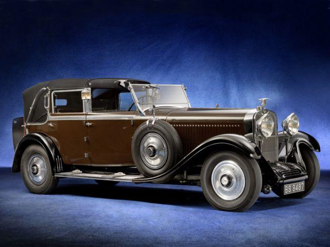 1930 Hispano Suiza H6C Landaulet retro wallpaper