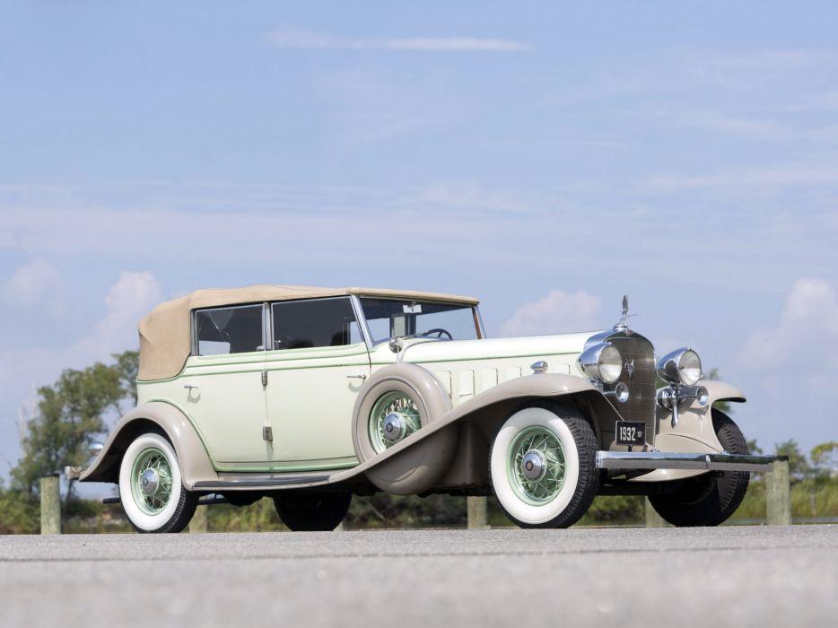 1932 Cadillac V16 452-B All Weather Phaeton by Fisher (32-16-273) retro luxury  f wallpaper