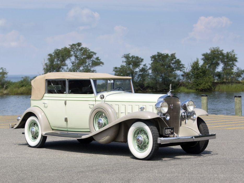 1932 Cadillac V16 452-B All Weather Phaeton by Fisher (32-16-273) retro luxury  t wallpaper
