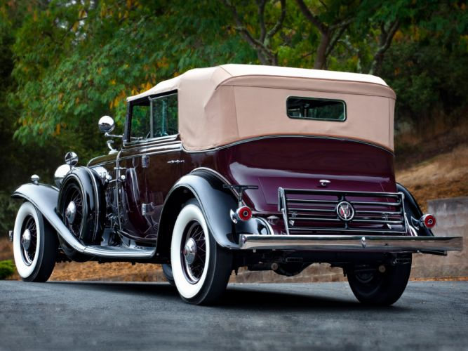 1932 Cadillac V16 452-B All Weather Phaeton by Fisher (32-16-273) retro luxury tw wallpaper