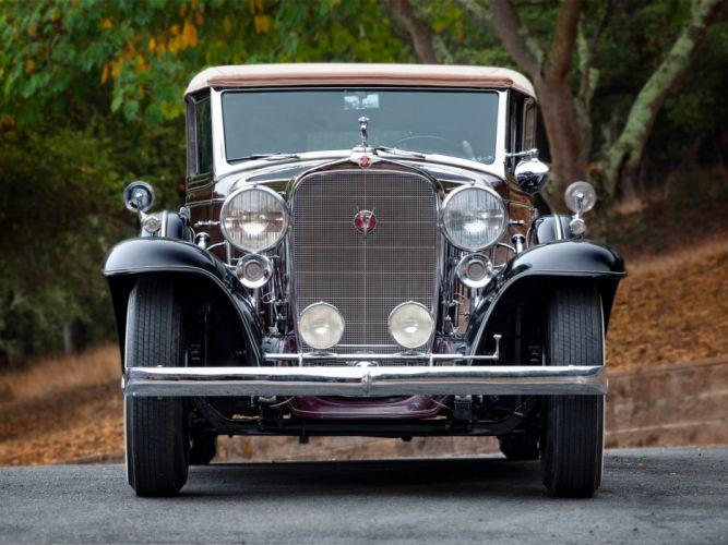 1932 Cadillac V16 452-B All Weather Phaeton by Fisher (32-16-273) retro luxury e wallpaper