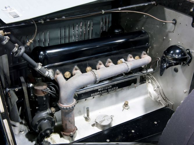 1934 Hispano Suiza HS26 Torpedo by Felber retro engine g wallpaper