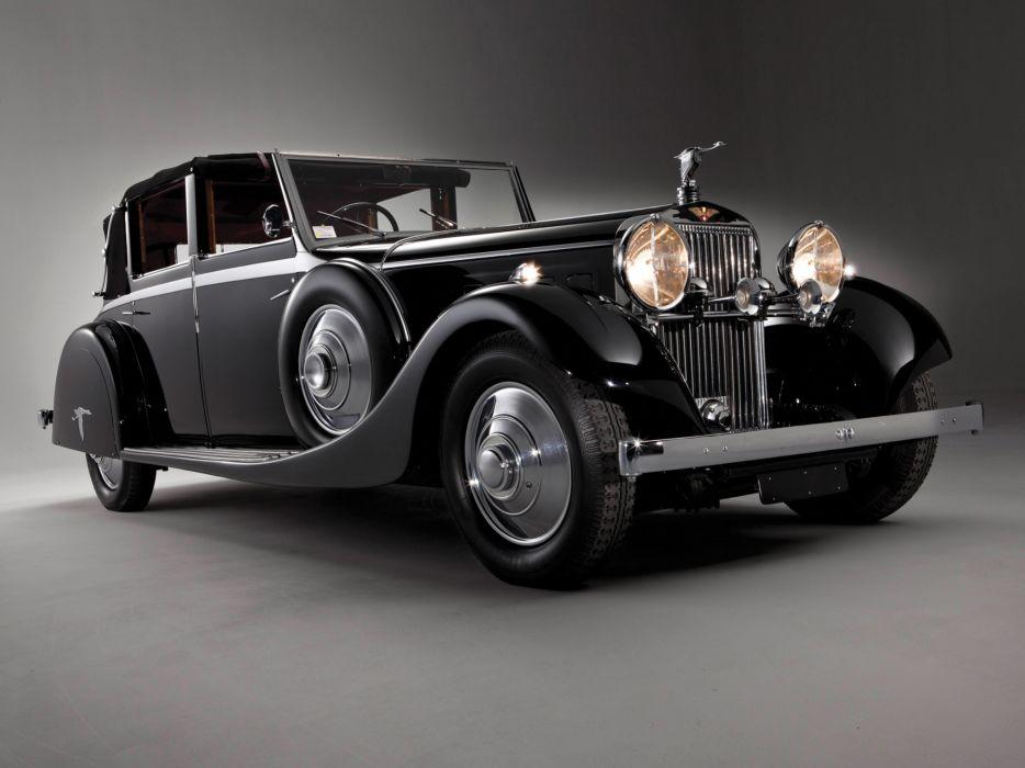 1935 Hispano Suiza J12 Sedanca de Ville luxury retro       g wallpaper