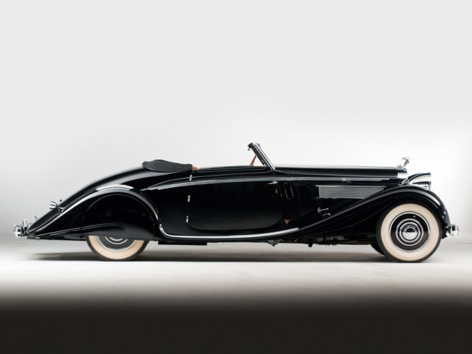 1935 Hispano Suiza K6 Cabriolet by Brandone retro luxury k-6 h wallpaper