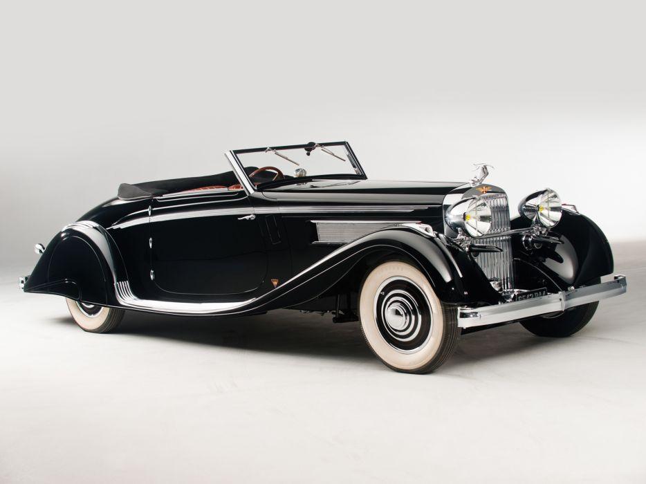 1935 Hispano Suiza K6 Cabriolet by Brandone retro luxury k-6  h wallpaper