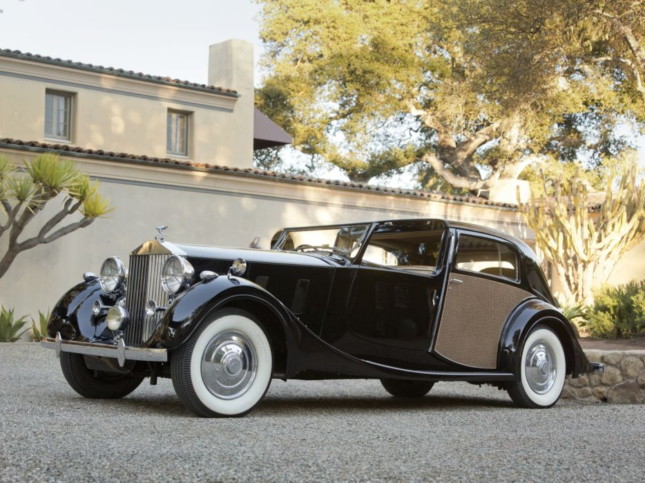 1938 Rolls Royce Phantom III Sedanca de Ville by Park Ward luxury retro       g wallpaper